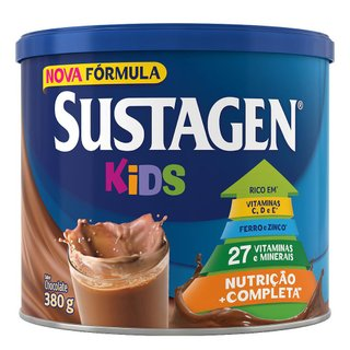 Complemento Alimentar Sustagen Kids Sabor Chocolate Lata Com 380g