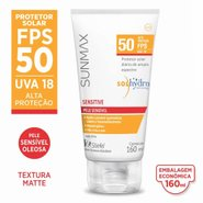 Protetor Solar Sunmax Sensitive Fps50 Pele Sensível 160ml