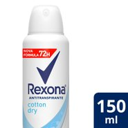 Desodorante Aerosol Rexona Cotton Dry 150ml