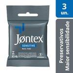 Preservativo Jontex Sensitive De Bolso C/ 3