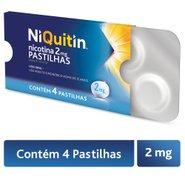 Niquitin Menta 2mg 4 Pastilhas Avulso
