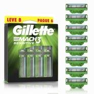 Carga Para Aparelho De Barbear Gillette Mach3 Sensitive Leve 8 Pague 6