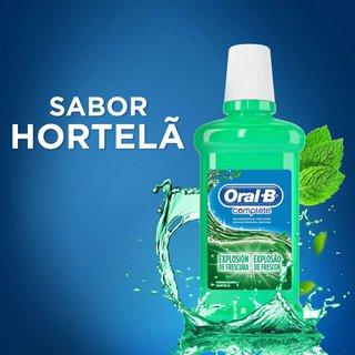 Antisséptico Bucal Oral-b Complete Hortelã 500ml Pague 300ml