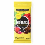 Preservativo Prudence CoresESabores Party Pack C/12