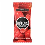 Preservativo Prudence CoresESabores Morango C/6