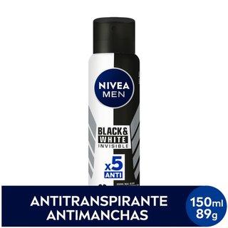 Desodorante Nivea Aerosol Black E White Men  150ml