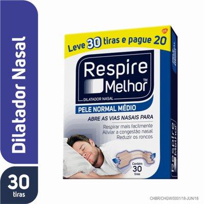 879237713 Dilatador Nasal Respire Melhor Pele Normal Leve 30 Pague 20