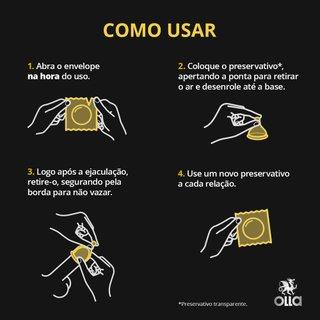 Preservativo Olla Prolong Com 3 Unidades