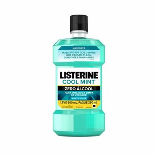 Antisséptico Bucal Listerine Zero Leve 500ml Pague 350ml