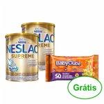 Kit Nestle - Compre 2 Composto Lacteo Neslac Supreme 800g e Ganhe 1 Lenços Umedecidos Panvel Baby Clube C/50 Unidades