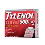 Analgésico Tylenol 500mg Com 20 Comprimidos Revestidos