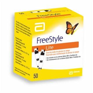 Tiras Reagentes Freestyle Lite Glicose Com 50 Unidades