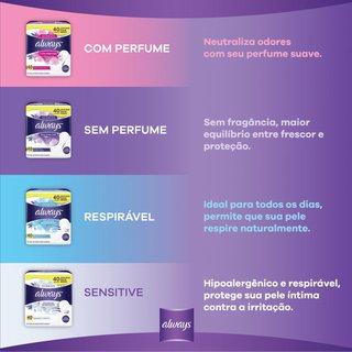 Protetor Diário Always Com Perfume 80 Unidades