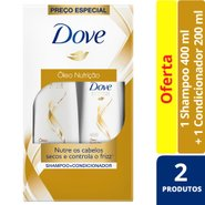 Kit Dove Oleo Nutricao Shampoo 400ml + Condicionador 200ml