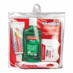 Kit Viagem Colgate Escova Dental Portable + Cre Dental 30g + Plax 60ml + Fita Dental 25m