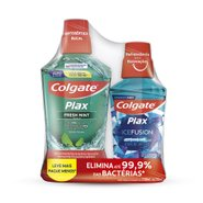 Kit Promocional Enxaguatorio Bucal Colgate Plax Fresh Mint 500ml + 250ml