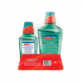 Kit Promocional Enxaguatório Bucal Colgate Plax Fresh Mint 500ml + 250ml