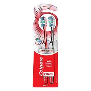 Kit Promocional Escova Dental Colgate 360 Luminous White Macia Com 2 Unidades