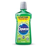 Enxaguatório Bucal Cepacol Fluor Leve 500ml Pague 350ml