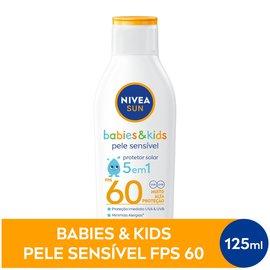 Protetor Solar Nivea Sun Kids Sensitive Fps60 125ml