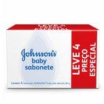 Kit Sabonete J&J Baby Regular 80g Leve 4 Preço Especial