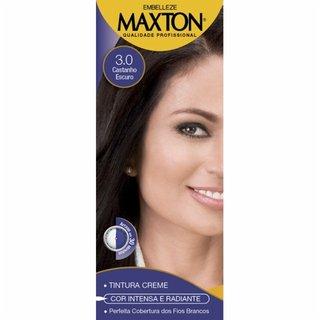 Tintura Maxton 3.0 Castanho Escuro Kit Pratico