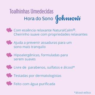 Lencos Umedecido Johnson's Baby Hora Do Sono C/96