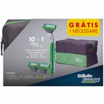 Kit Aparelho Gillette Mach3 Sensitive Grátis Necessaire