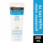 Protetor Solar Neutrogena Sun Fresh Fps70 200ml