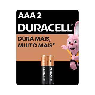 Pilha Alcalina Duracell Aaa C/2