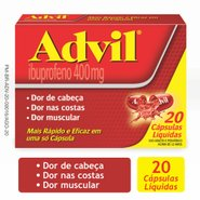 Advil 400mg 20 Cápsulas Líquidas