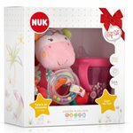 Kit Nuk Plush Toys Pelucia + Copo My First Rosa Rosie