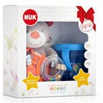 Kit Nuk Plush Toys Pelucia + Copo My First Azul Teddy
