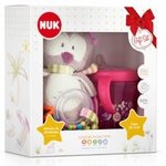 Kit Nuk Plush Toys Pelucia + Copo My First Rosa Lily