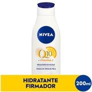 Hidratante Desodorante Nivea Firmador Q10 + Vitamina C Todos Os Tipos De Pele 200ml