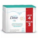 Kit Lenço Umedecido Baby Dove Hidratação Sensível C/50 Leve 4 Pague 3