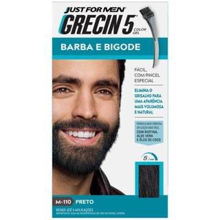 Grecin 5 Barba E Bigode Preto