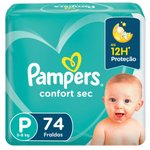 Fralda Pampers Confort Sec Forte Bag P C/74