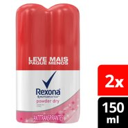 Kit Desodorante Aerosol Rexona Power Dry Leve Mais Pague Menos 2 Unidades 150ml Cada