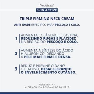 Creme Antissinais Para Pescoço E Colo Neostrata® Skin Active Triple Firming Neck Cream 80g
