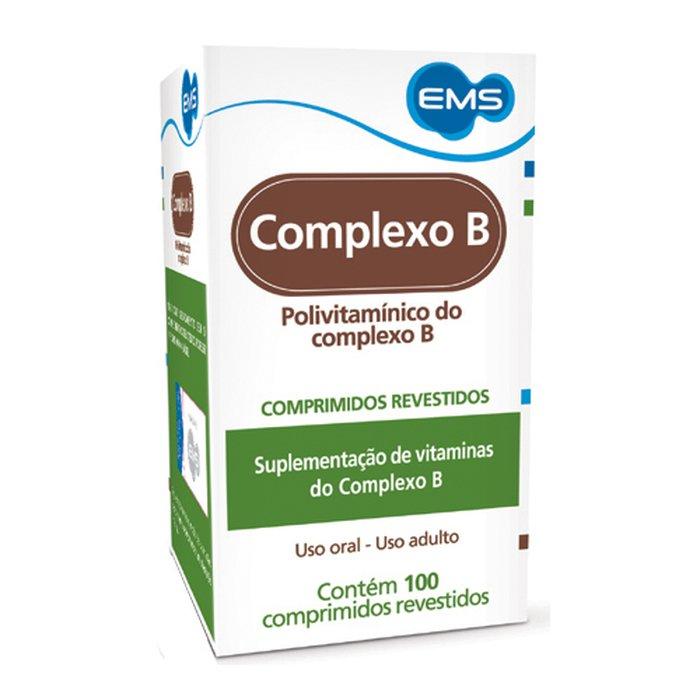 52e9184d4 Complexo B Ems 100 Comprimidos - PanVel Farmácias