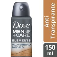 Desodorante Aerosol Dove Men+ Care Talco Mineral + Sândalo 150ml