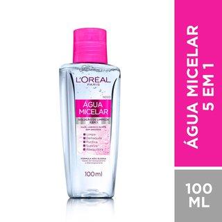 Água Micelar L'oréal Solução De Limpeza Facial 5 Em 1 100ml