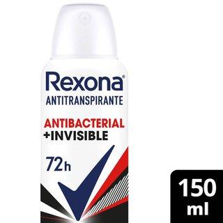 Desodorante Rexona Aerosol Antibacterial + Invisible 150ml