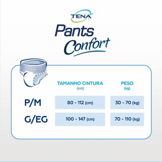 Roupa Íntima Tena Pants Confort G/eg 8 Unidades