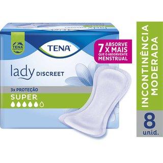 Absorvente Para Incontinência Urináriatena Lady Discreet Super 8 Unidades
