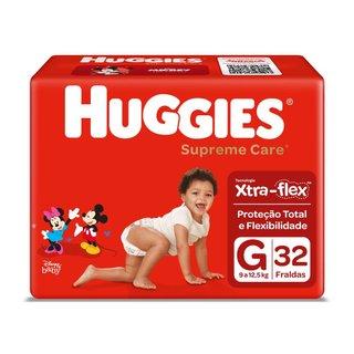 Fralda Huggies Supreme Care G Com 32 Unidades