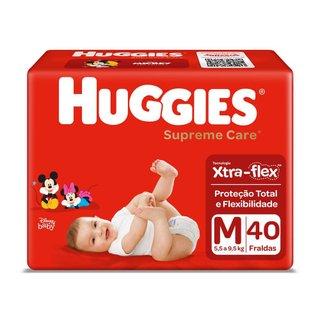 Fralda Huggies Supreme Care M Com 40 Unidades
