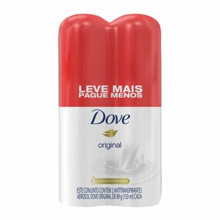 Kit Desodorante Aerosol Dove Original Leve Mais Pague Menos 2 Unidades 150ml Cada