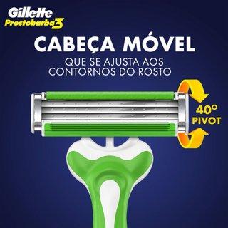 Aparelho De Barbear Descartável Gillette Prestobarba3 Sensitive Leve 4 Pague 3